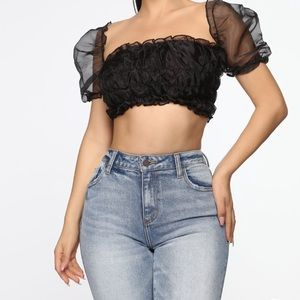 """Wish you were SHEER"" top fashion nova"